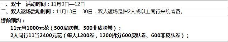 重庆晶肤整形医院 双十一活动政策