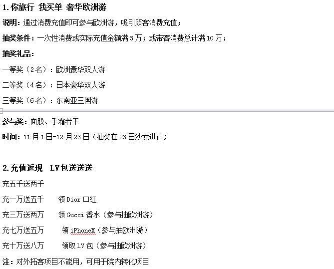 深圳希思年终钜惠盛典 12月份月度营销方案
