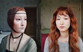 90后女孩名人妆容走红 神还原蒙娜丽莎、C罗(图)