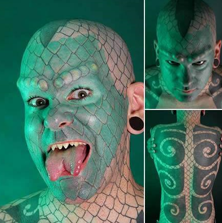 """直击:全球最奇葩的7大整容狂人,活生生的整容成了""""怪物"""""""